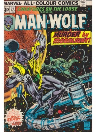 Vintage Marvel Comics Man Wolf