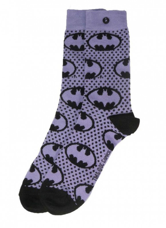 DC-Comics-Ladies-Socks-2-Pack-Batman-Purple-2