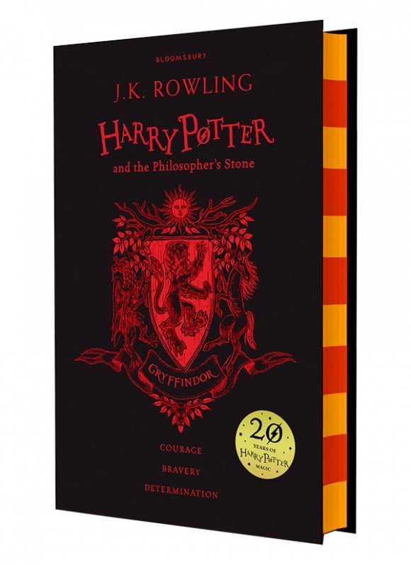 harry potter hardcover aniversary 20 years gryffindor