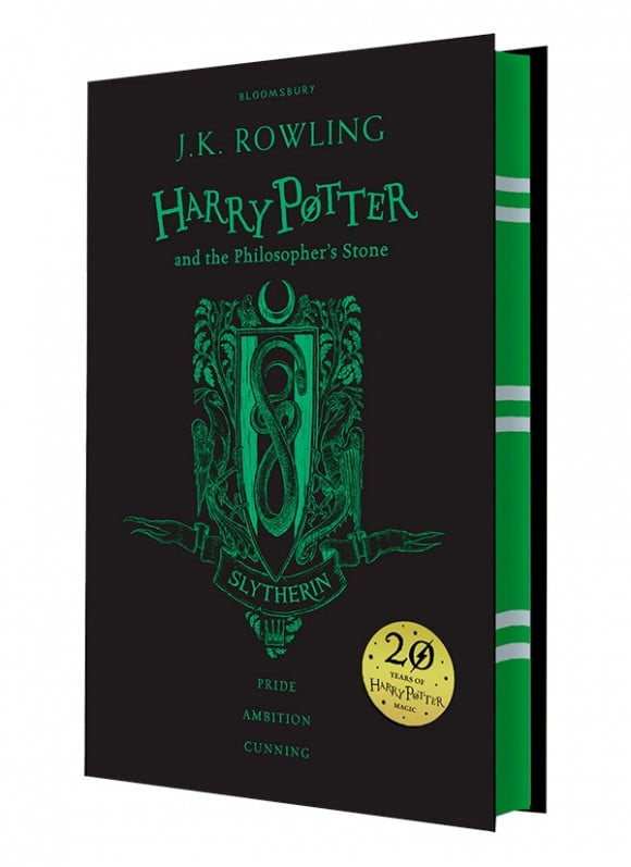 harry potter hardcover aniversary 20 years slytherin