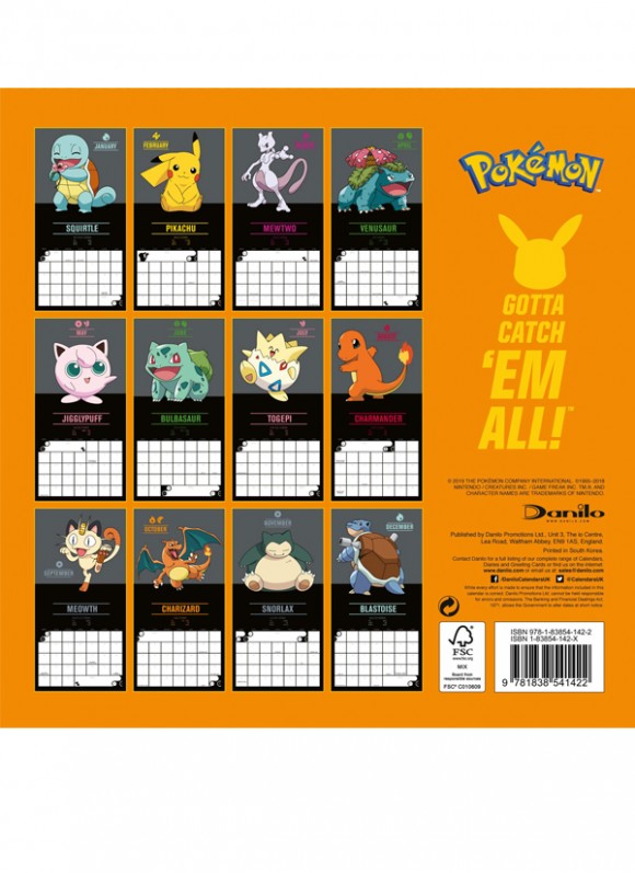 calendar pokemon2